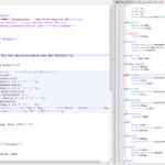 Quelcode einer Webseite und CSS