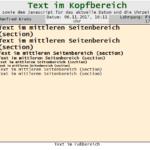 Webseite mit CSS