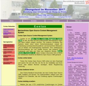 Contao-Webseite